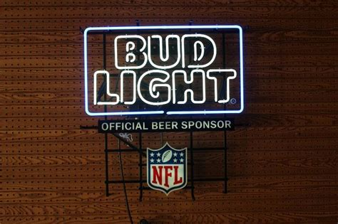bud light on sale this week bud light official nfl beer sponsor neon sign west