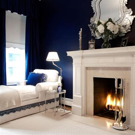 vintage navy blue  white bedroom ideas greenvirals style