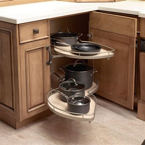 Inside Kitchen Cabinet Organizers by Kitchen Corner Cabinet With Clever Storage Systems Inside