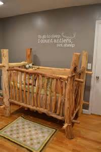 awesome boys nursery theme log crib baby nursery