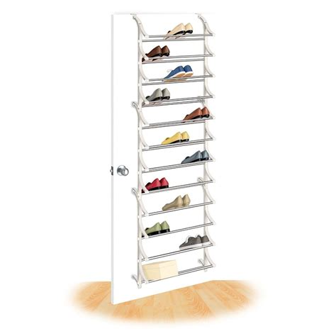 the door shoe storage essential home the door 18 pair shoe rack home