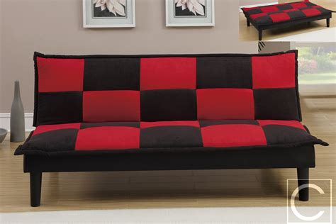 red futons red and black checker flag print microfiber adjustable
