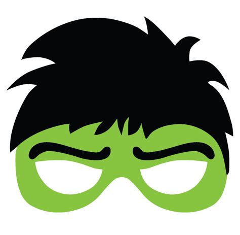 printable hulk mask template superheroes mask the hulk other pinterest
