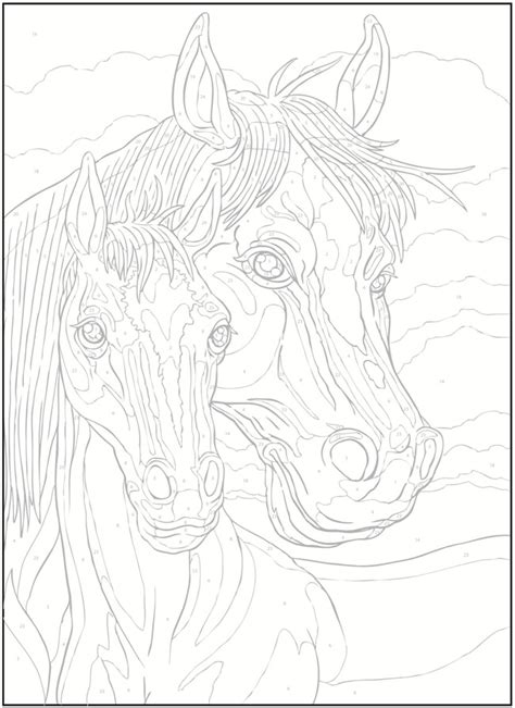 horse coloring pages by numbers welcome to dover publications creative haven horses