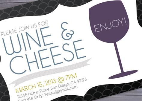 wine invitation template wine and cheese invitation printable brigeeski
