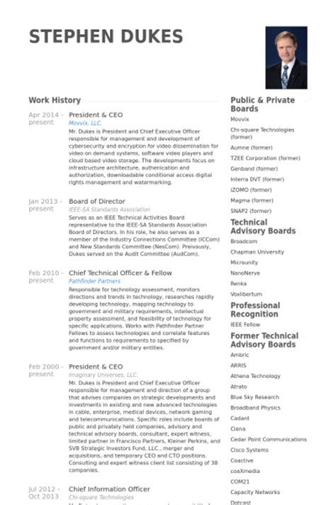 resume templates ceo president ceo resume sles visualcv resume sles database