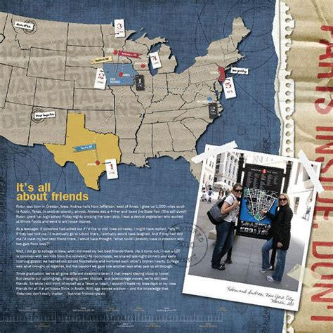 scrapbook layout travel usa travel layout scrapbooking pinterest