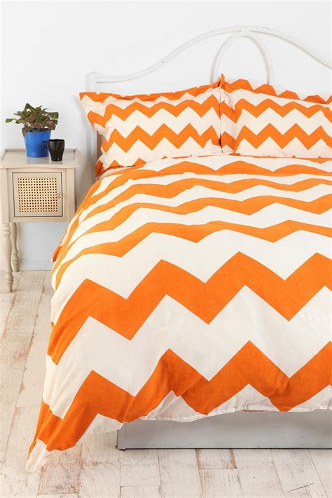 Zigzag Duvet Cover zigzag duvet cover childs bedroom guest rooms and orange chevron
