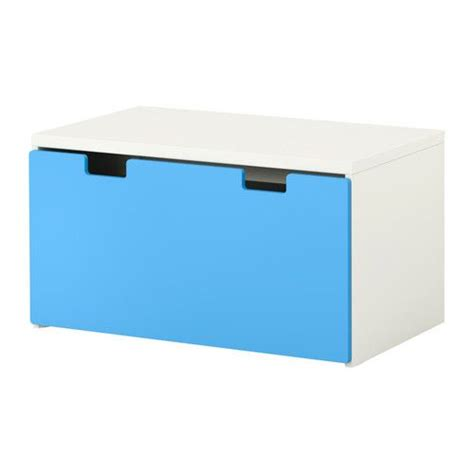 ikea toy box bench stuva storage bench white blue