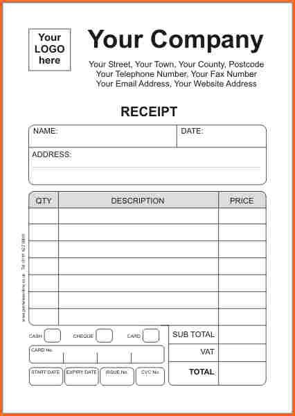 sales receipt book template reciept book template beneficialholdings info