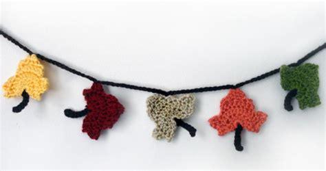 free crochet pattern leaf garland crochet spot 187 blog archive 187 crochet pattern fall leaf