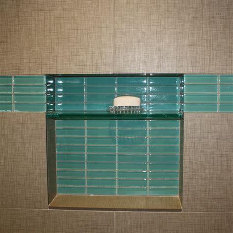 glass tile accents in bathroom aqua glass subway tile in pool modwalls lush 1x4 modern