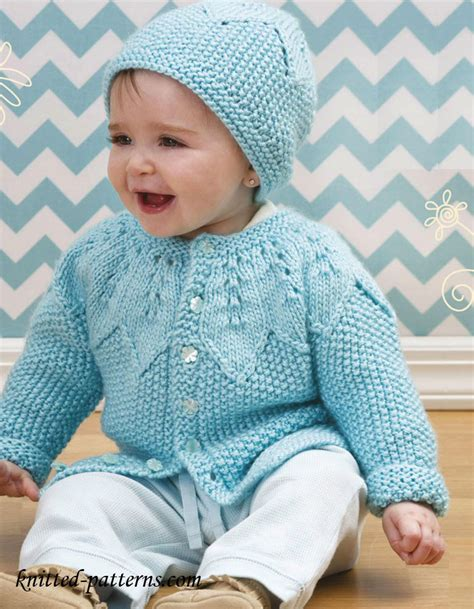 baby knitting patters baby cardigan and hat knitting pattern free