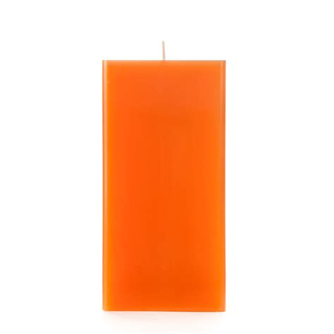 Square Candles 3x3x6 Orange Square Pillar Candle