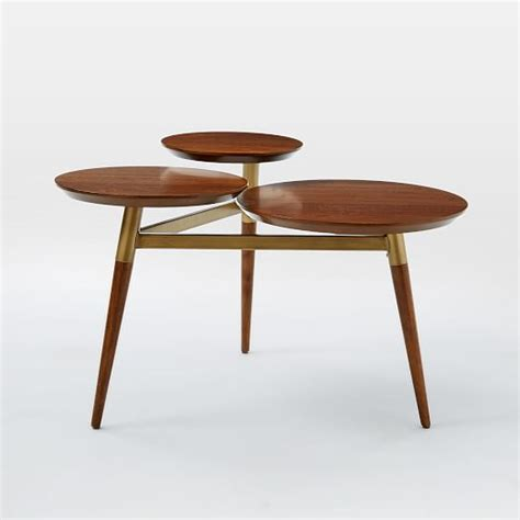 West Elm Dining Room Table by Clover Coffee Table Walnut Antique Brass West Elm