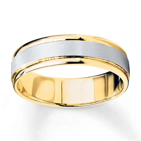 Two Tone Wedding Bands by Jared S Wedding Band 10k Two Tone Gold
