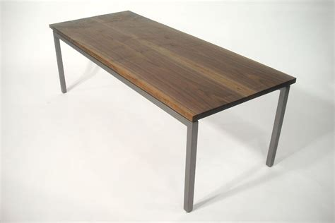 for sale coffee table made of steel and granite kempton hand crafted walnut and steel coffee table by bdagitz