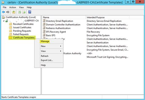 active directory certificate templates how to deploy active directory certificate services on