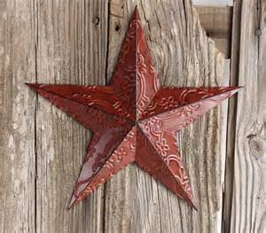 Metal Star Home Decor Red Metal Embossed Barn Star Wall Decor Home Decor