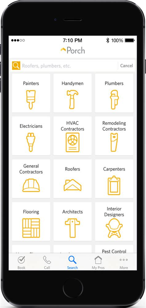 home repair apps porch launches first app tests mobile scheduling and