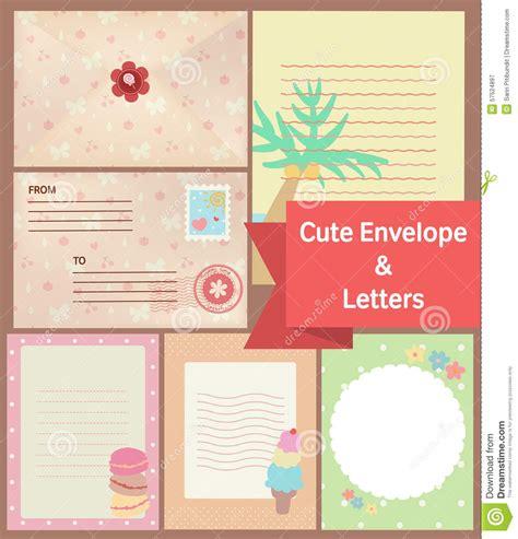 cute vintage pastel letters envelope paper stationery