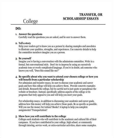 College Transfer Essay by 29 Exles Of College Essays