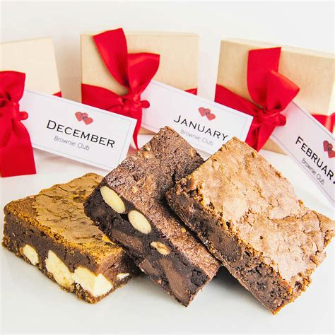 christmas monthly chocolate brownie subscription by