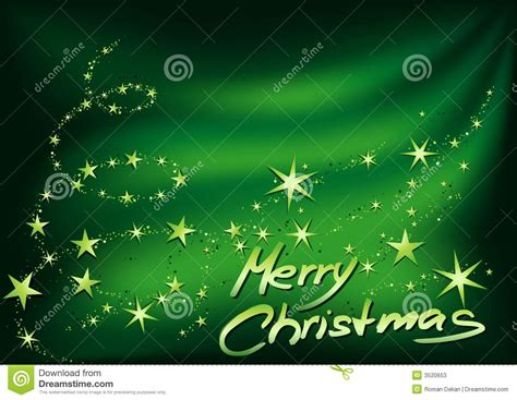 green merry christmas stock  image