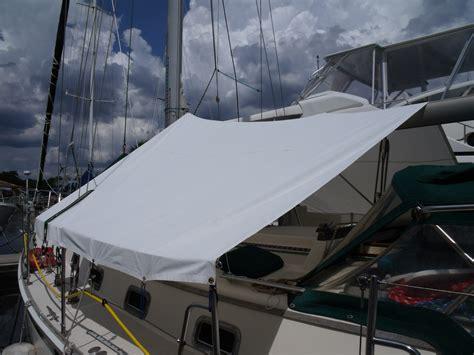 sailboat sun awnings wildcat sailorgirl my new sunshade boat sewing