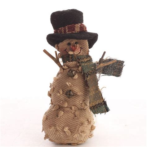primitive plush snowman ornament christmas ornaments