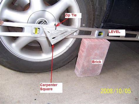 wheel alignment diy car alignment tricks using common tools