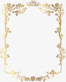golden rectangular french floral border png picture gold