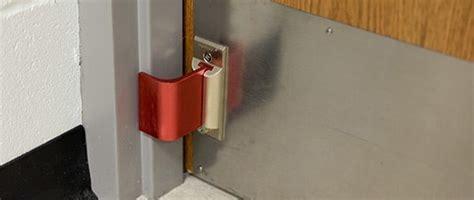outward swinging door security lockdown door barricade devices school office security