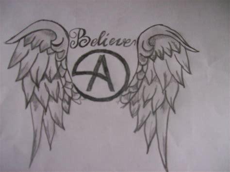 tattoo angel symbol angel winged anarchy symbol tattoo design tattooshunt com