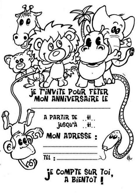 Dessin Cartes D Invitation Pour Anniversaire