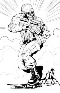 call of duty coloring pages ghost modern warfare