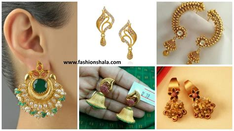 Simple Daily Wear Gold Earrings With Price