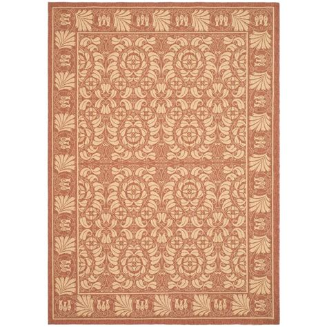 safavieh cy5139a courtyard indoor outdoor area rug rust lowe s canada safavieh courtyard rust sand 8 ft x 11 ft indoor outdoor area rug cy5146a 8 the home depot
