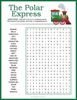 paolo the happy polar books polar express word search coloring books classroom and