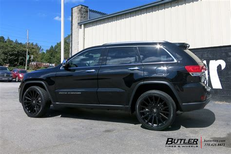 jeep grand wheels jeep grand with 22in black rhino spear wheels