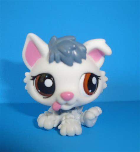 lps husky puppy littlest pet shop cutest pet white grey baby husky puppy 2439 lps new