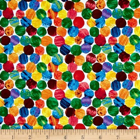 The Very Hungry Caterpillar Abstract Dots Multi   Discount Designer Fabric   Fabric.com