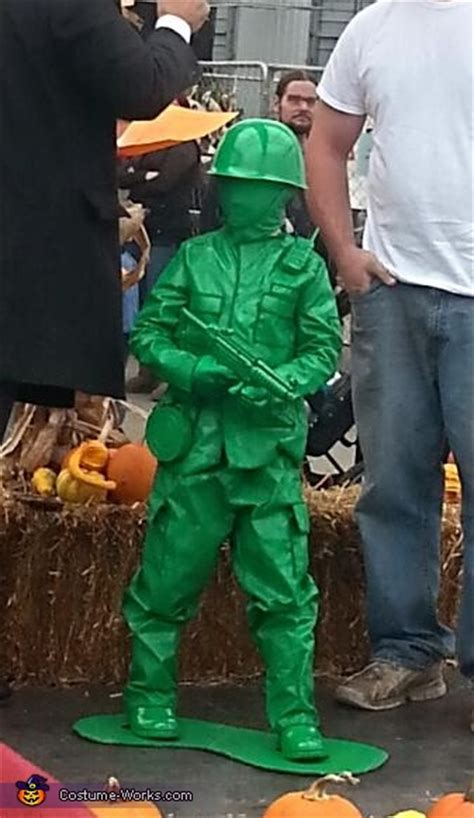 diy plastic green army man costume