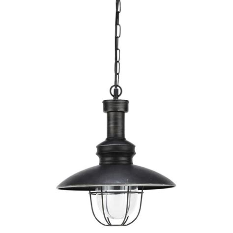 amarage metal and glass ceiling light in black d 31cm