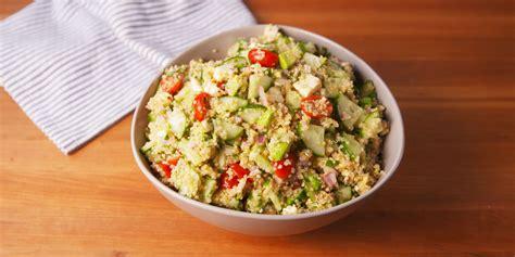 quinoa salad easy zesty mediterranean quinoa salad recipe how to make