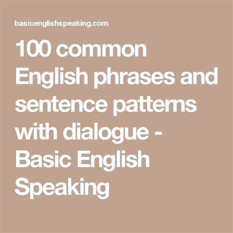 Pattern English Phrases   the 25 best basic sentence pattern ideas on pinterest