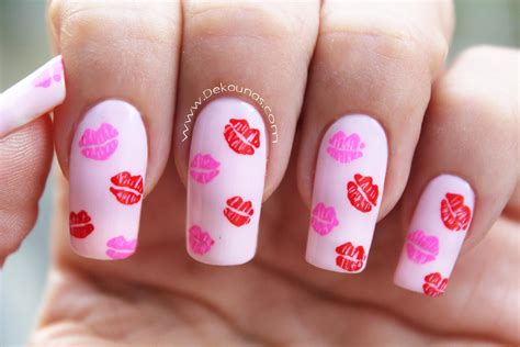 imagenes de uñas decoradas de amor y amistad decoraci 243 n de u 241 as besos kissed nail art youtube