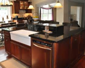 kitchen island granite countertop black galaxy granite installed design photos and reviews