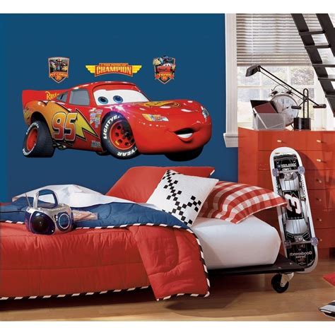 lightning mcqueen accessories for bedroom lightning mcqueen giant wall decal new disney cars movie