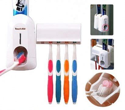 Dispenser Odol Pasta Gigi Otomatis Dgn Tempat Sikat Gigi Toothpaste dispenser pasta gigi tidak perlu pencet odol lagi harga jual